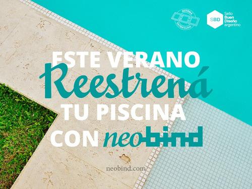 venecitas neobind® turquesa - azul - blanco por plancha