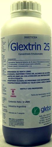 veneno cucarachas insecticida 1 lt. glextrin 25 profesional