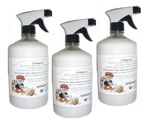 veneno spray para pulgas, percevejos, carrapatos, cupins 3l