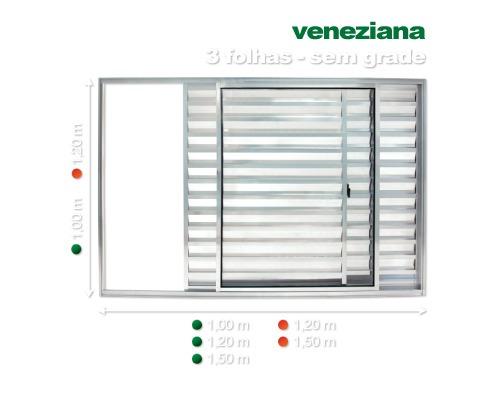 veneziana d alum branco s grade 120x150 direto da fabrica