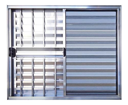 veneziana de alumínio brilhante 100x150 c/g 3f emborrachada