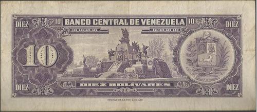 venezuela 10 bolivares 27 ene 1970 serie p 7 dig p45g