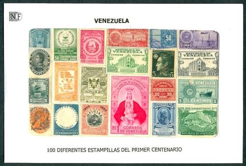 venezuela 100 dif. estampillas 1er centenario - paquetería