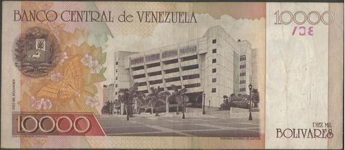venezuela 10000 bolivares 16 ago 2001 serie c 8 dig p85b