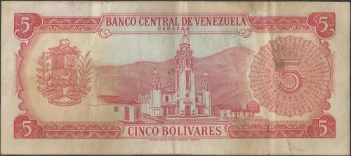 venezuela 5 bolivares 11 abr 1972 serie r 7 dig p50f