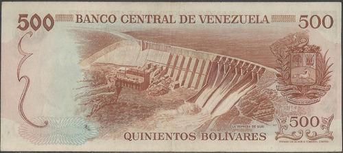 venezuela 500 bolivares 11 ene 1972 serie a 7 dig p56b
