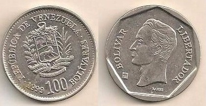 venezuela bs 100 de 1999