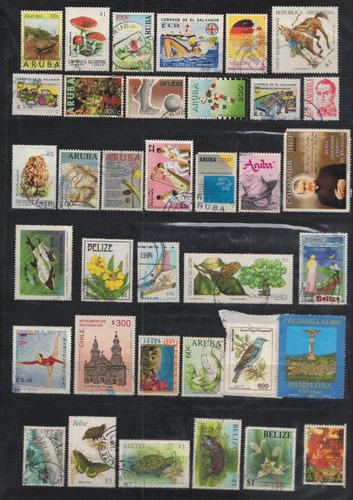 venezuela y el caribe 80 sellos usados años 90´s