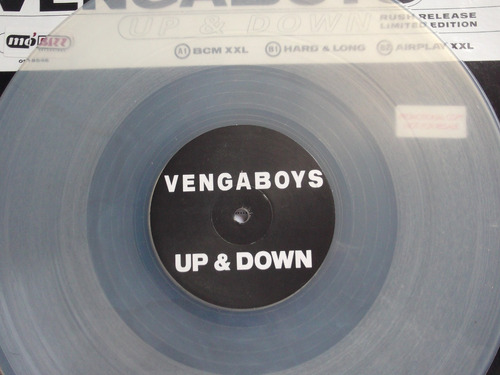 vengaboys - up & down -  tres tracks  - acetato importado