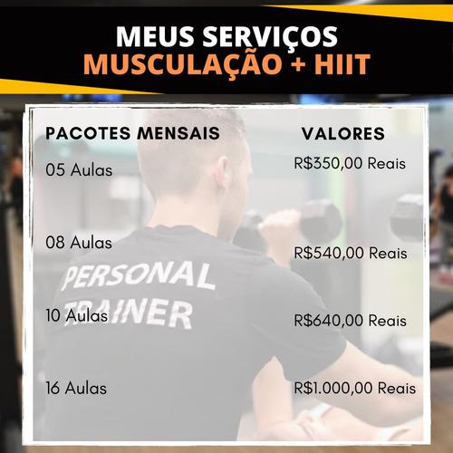 venha obter os melhores resultados com treino personalizado!