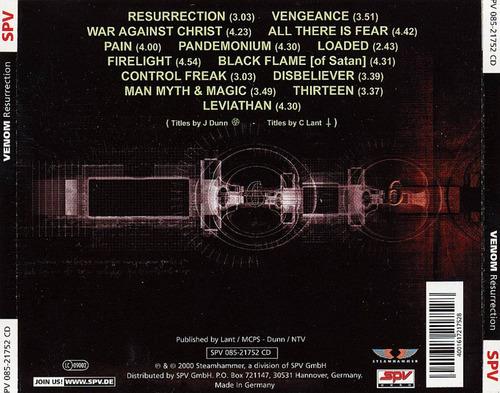 venom - resurrection (2000)