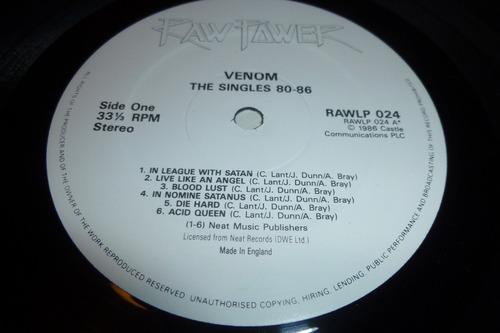 venom the singles 80-86 lp vinyl 1986 made in england
