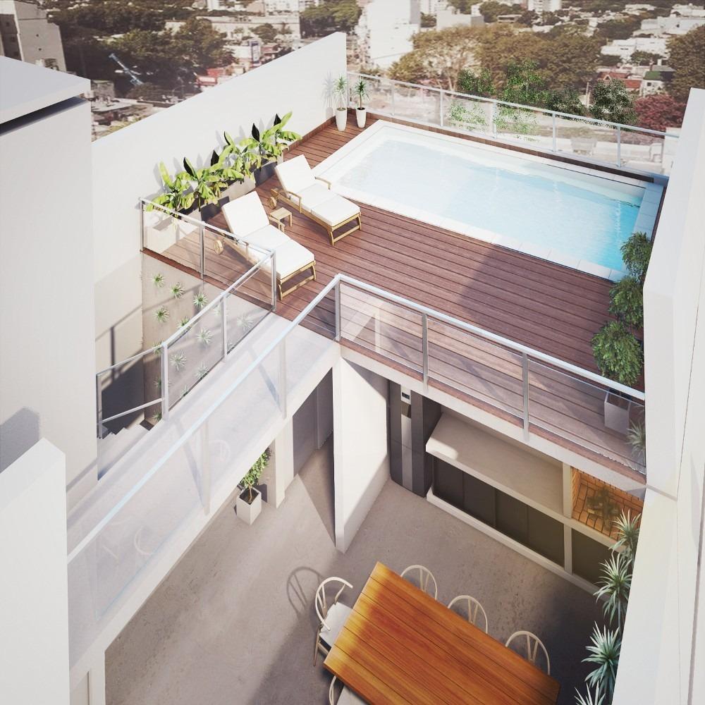 venta 2 amb. 1°  b , al fte c/balcon y parrilla villa devoto