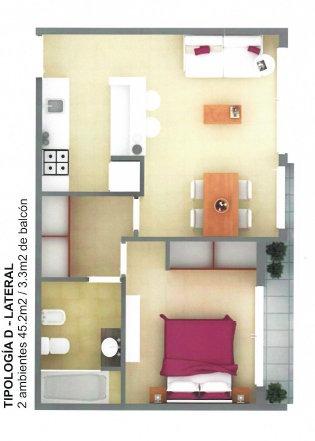 venta 2 ambientes con cochera. sobre el mar. villa gesell