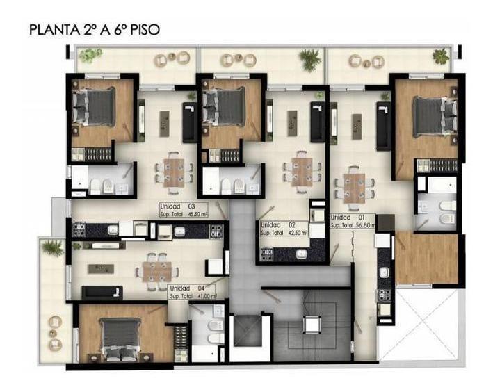 venta 2 dormitorios, financiación en pesos - 1º de mayo 2100 rosario