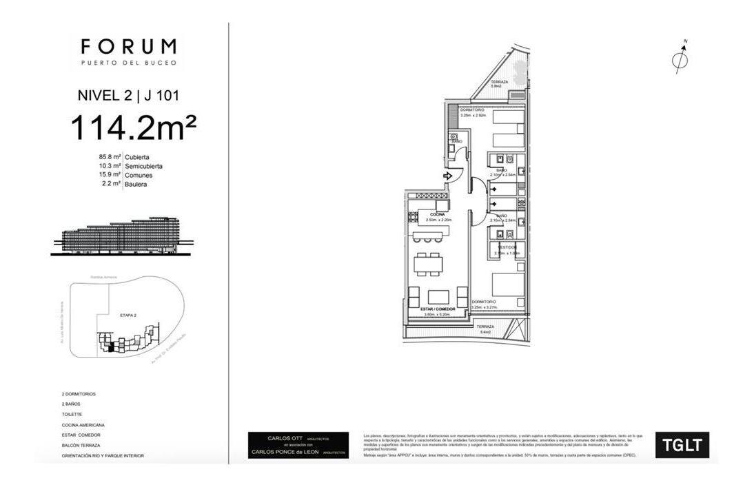 venta 2 dormitorios forum puerto del buceo