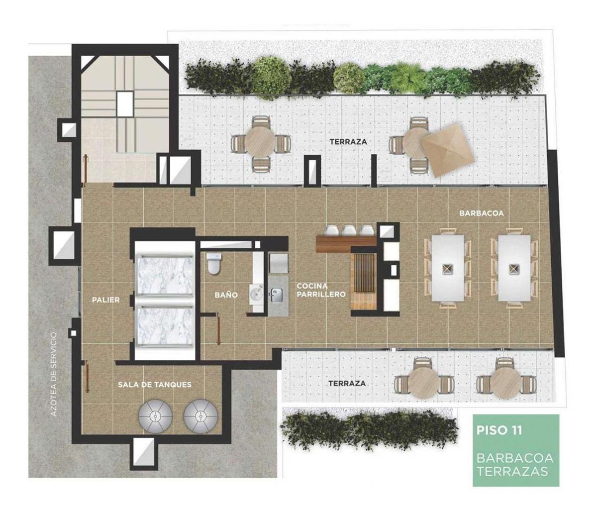 venta 2 dormitorios piso alto disfutable terraza