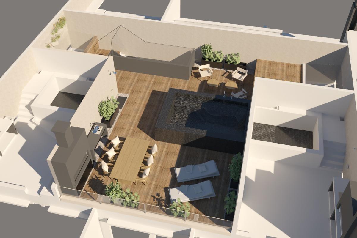 venta 4 amb c/terraza propia, parrilla, solarium