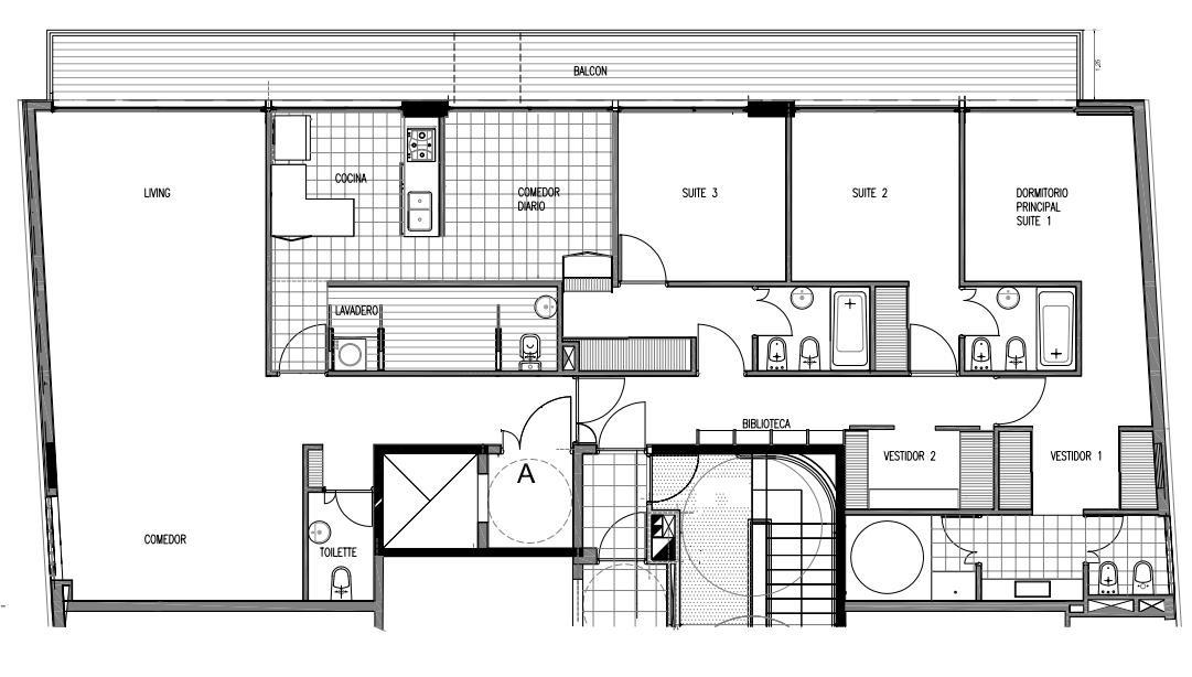 venta 4 amb piso alto balcón, amenities - palermo chico