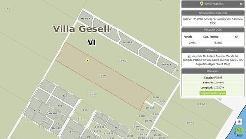 venta 40 hectáreas en villa gesell / mar de las pampas