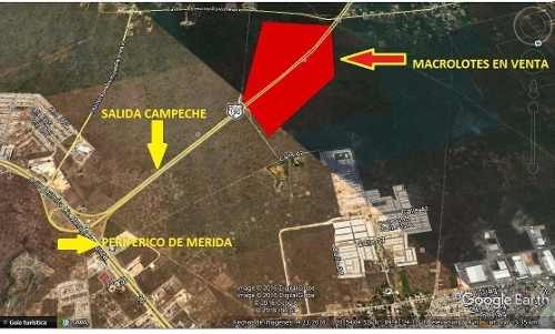 venta 70 hectareas a 1.5 km de periférico en merida salida campeche