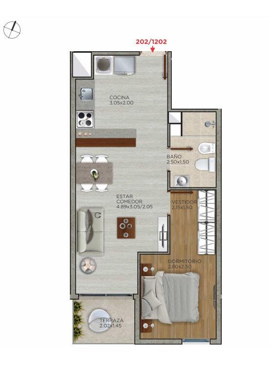 venta apartamento 1 dormitorio cordon