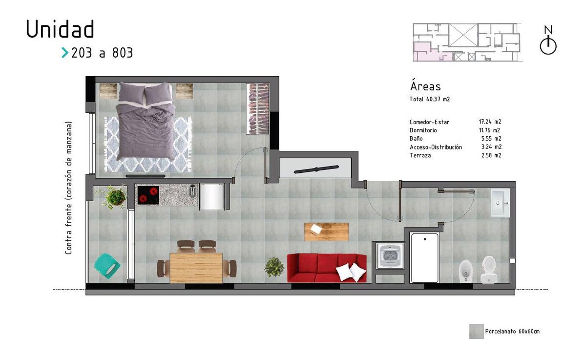 venta apartamento 1 dormitorio cordon montevideo