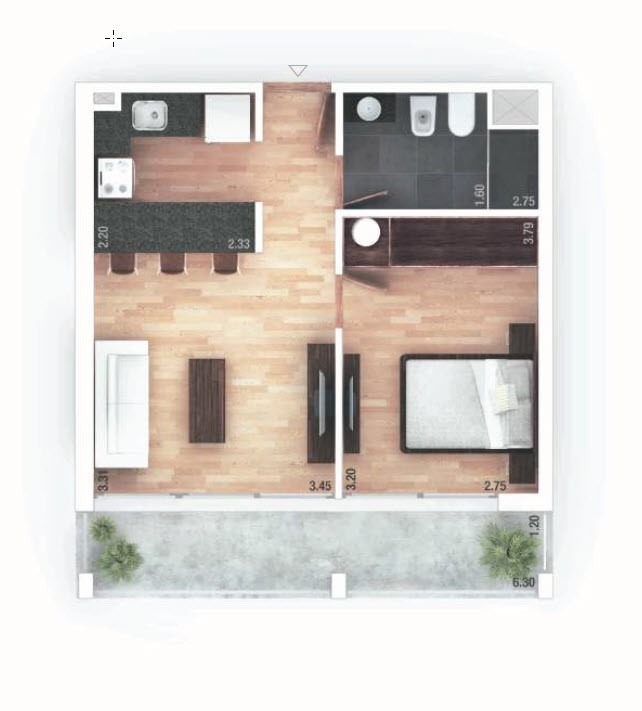venta apartamento 1 dormitorio pocitos montevideo