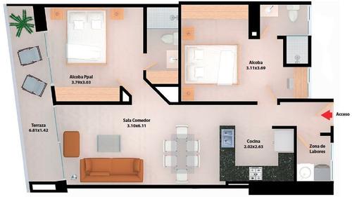venta apartamento 2 alcobas en marbella cartagena