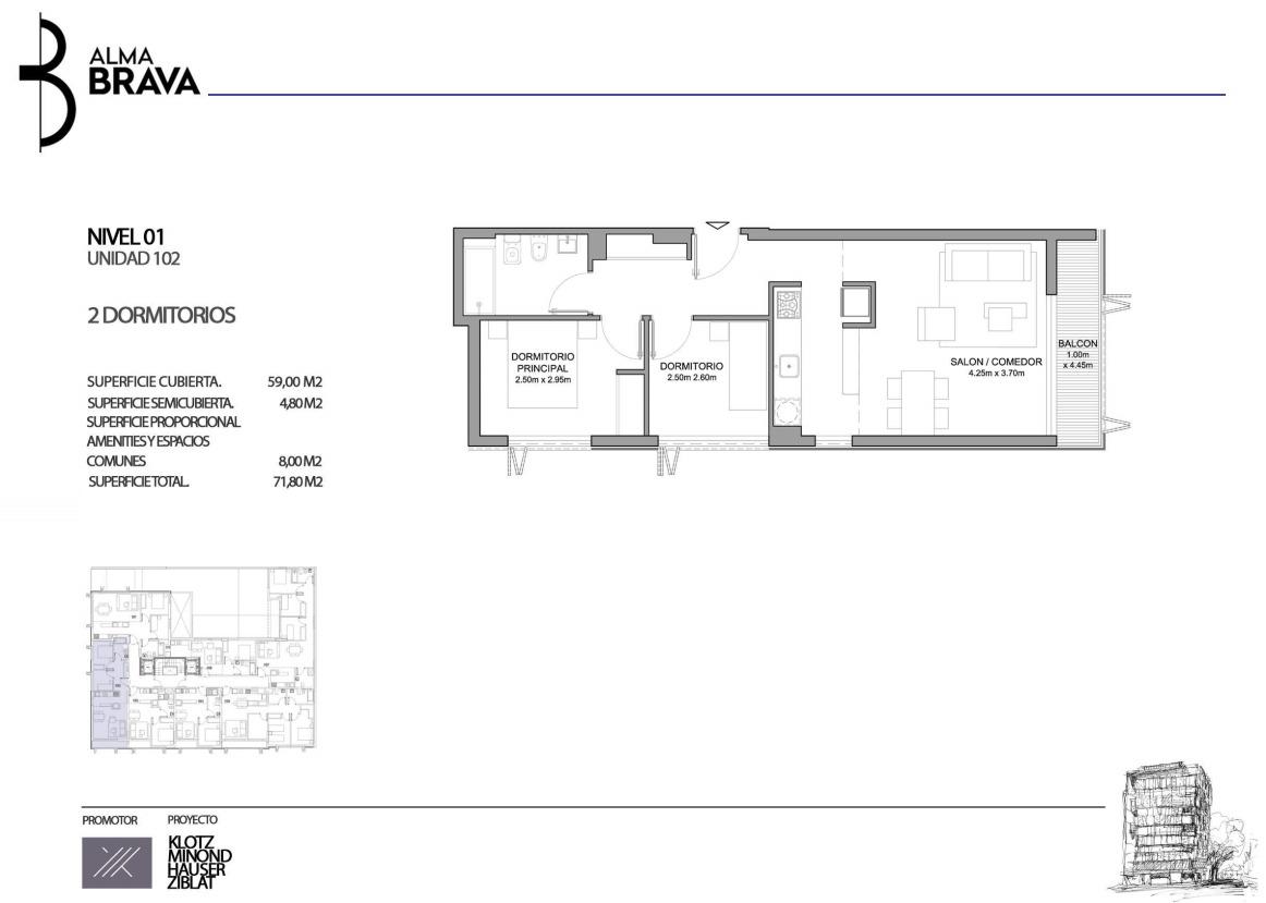 venta apartamento, 2 dormitorios. centro sur - alma brava!