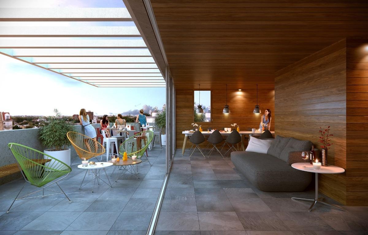 venta apartamento 2 dormitorios gran terraza en tres cruces