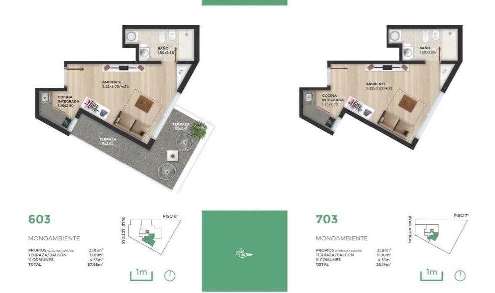 venta. apartamento. 2 dormitorios. tres cruces