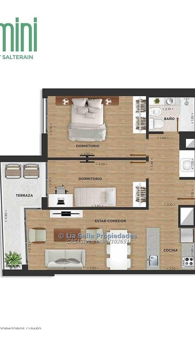 venta apartamento cordon 2 dormitorios.