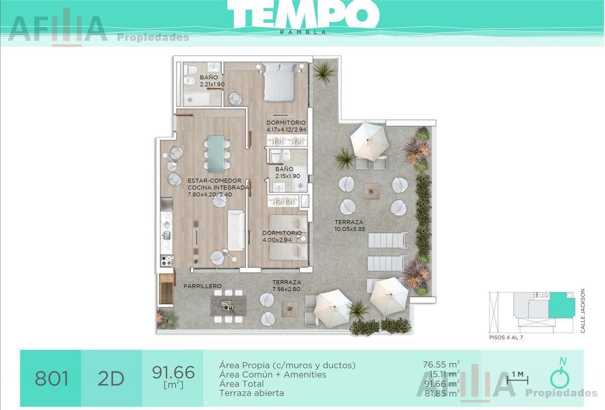 venta apartamento dos dormitorios parque rodó, inversión!!!!