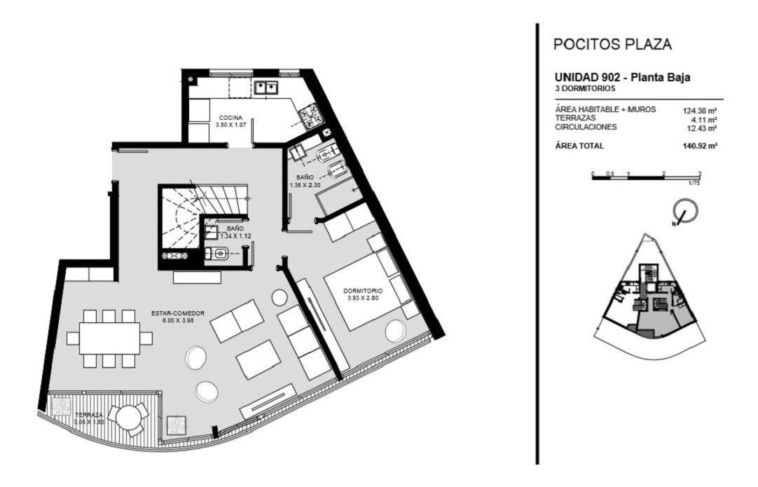 venta apartamento duplex tres dormitorios pocitos montevideo
