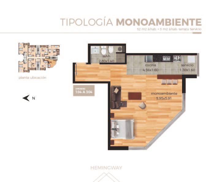 venta apartamento la paloma rocha 1 dormitorio con garage