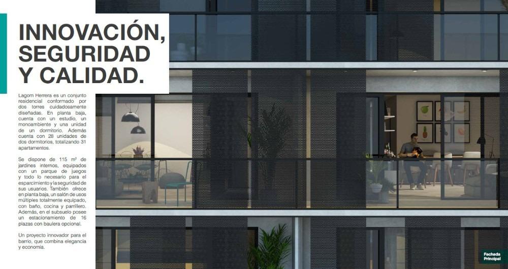venta apartamento monoambiente la blanqueada montevide lagom