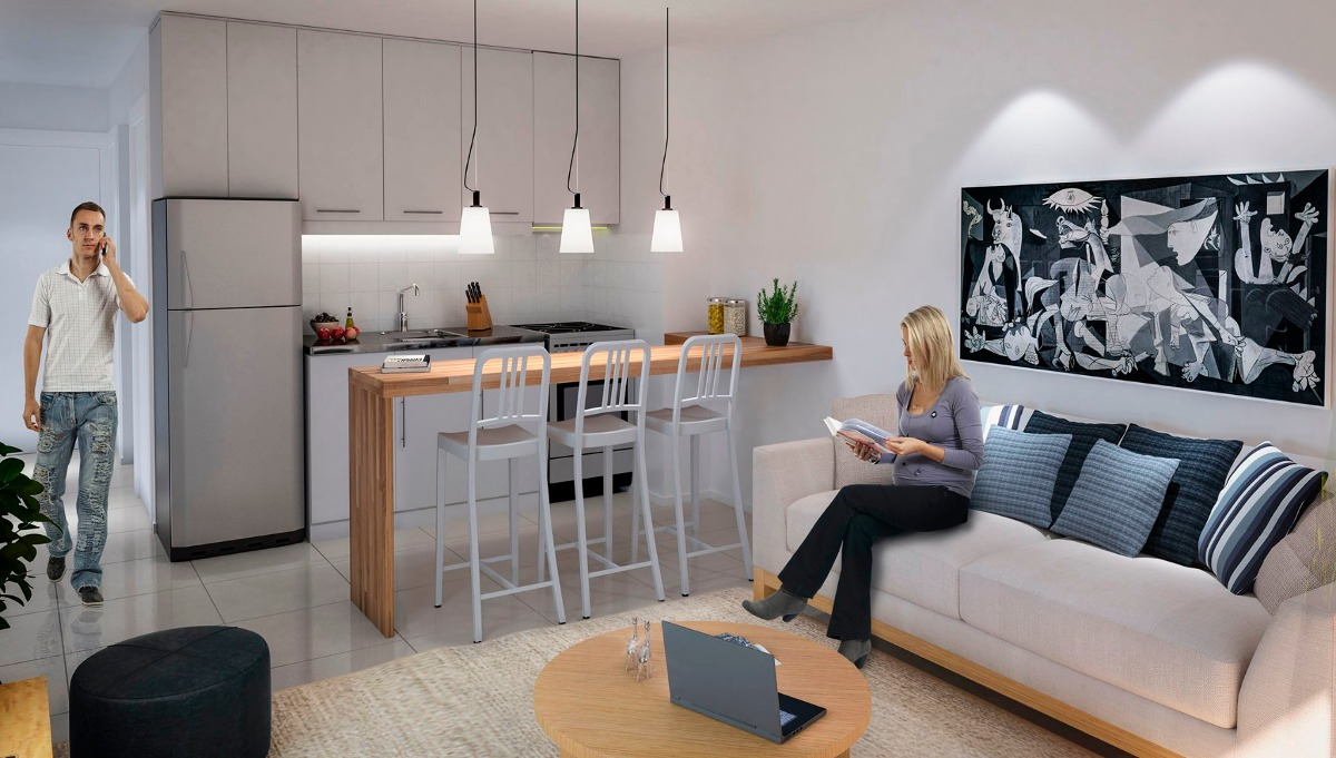 venta apartamento monoambiente pocitos montevideo buxareo