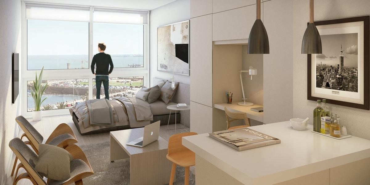 venta apartamento monoambiente rambla montevideo torre mauá