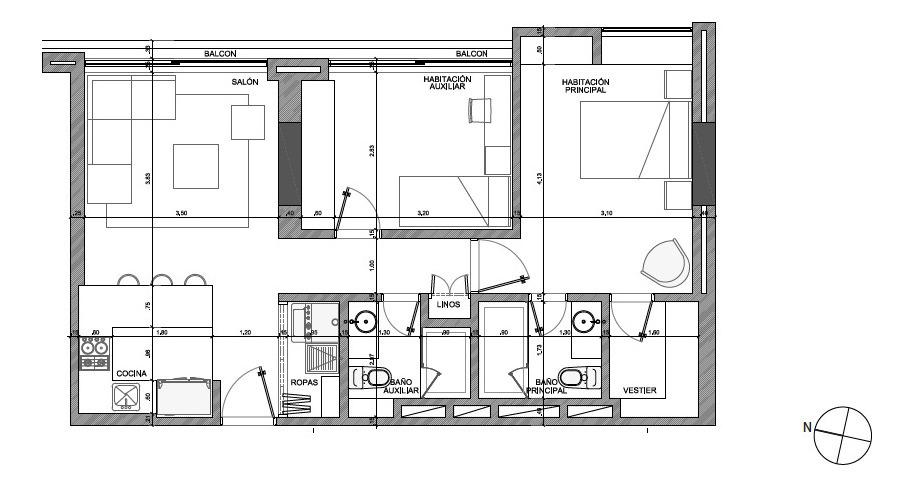 venta apartamento rosales 82 mts