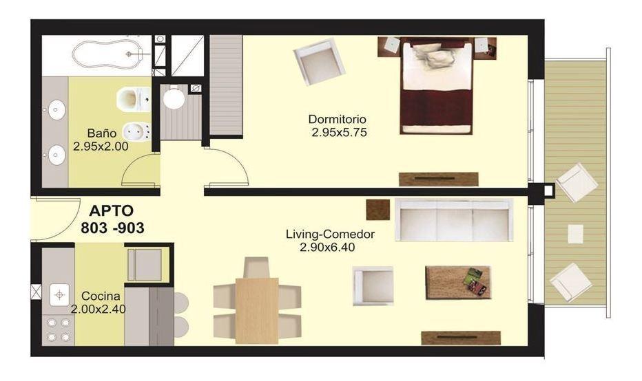 venta apto. 1 dormitorio punta carretas