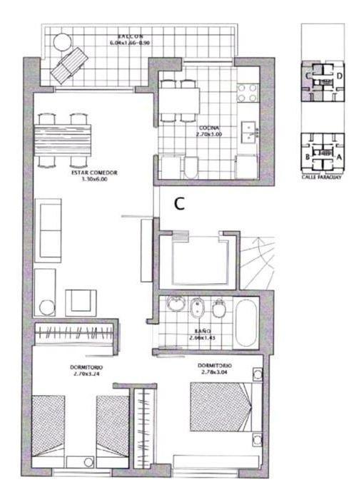 venta bauen adjudicado 2 dormitorios con balcon