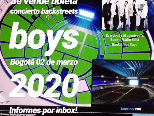 venta boletas concierto backstreet boys