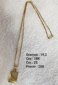 5c88a869183c Cadenas Oro 18 Usadas - Joyería y Bisutería Collares Oro