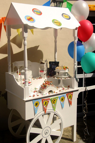 venta carro candy bar-golosinas-evento-kiosco. en blanco!!!!