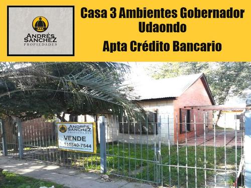 venta casa 3 ambientes apto crédito villa gobernador udaondo