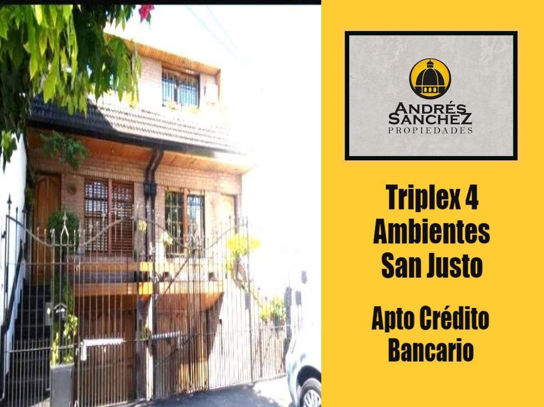 venta casa 4 ambientes apto crédito bancario san justo
