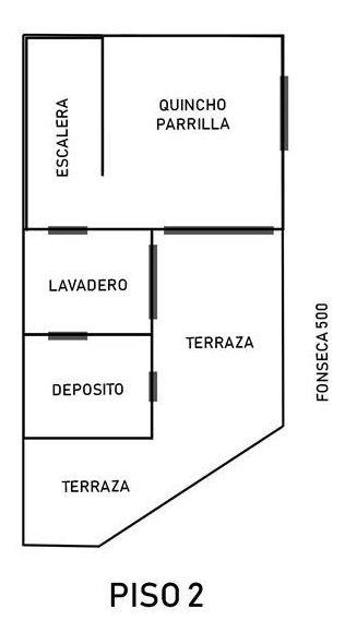 venta casa 6 amb con terraza - flores