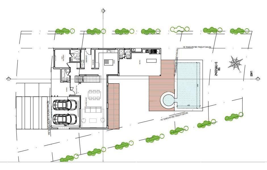 venta. casa de diseño sobre lote a la laguna. barrio vistas. puertos del lago.
