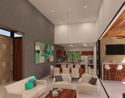 venta casa en mérida-terreno amplio-una planta-privada con terreno 650m2